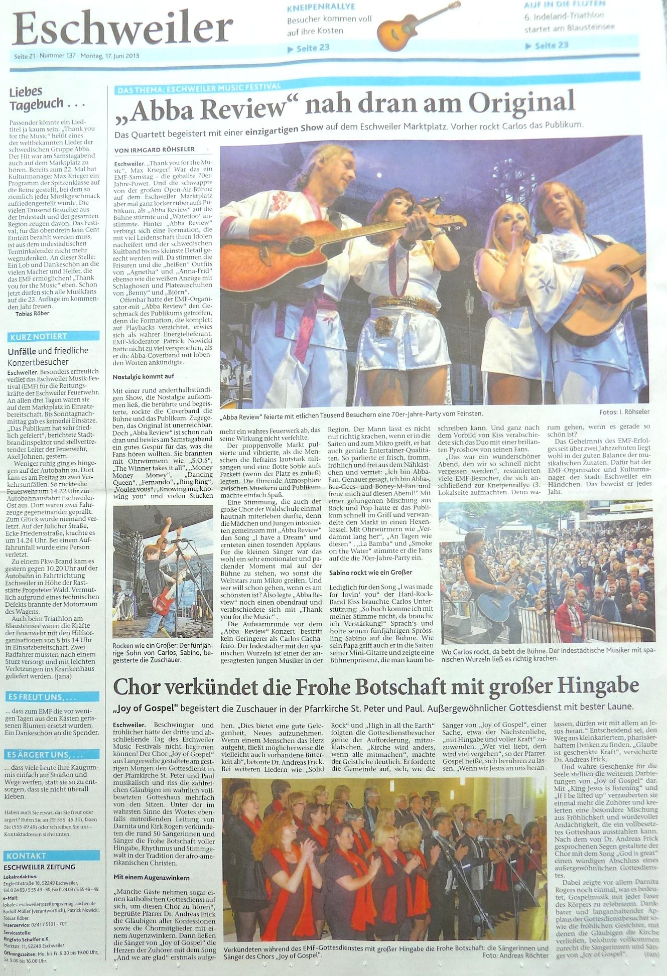 EMF - Eschweiler Music Festival | Presse  EMF - Eschweile...